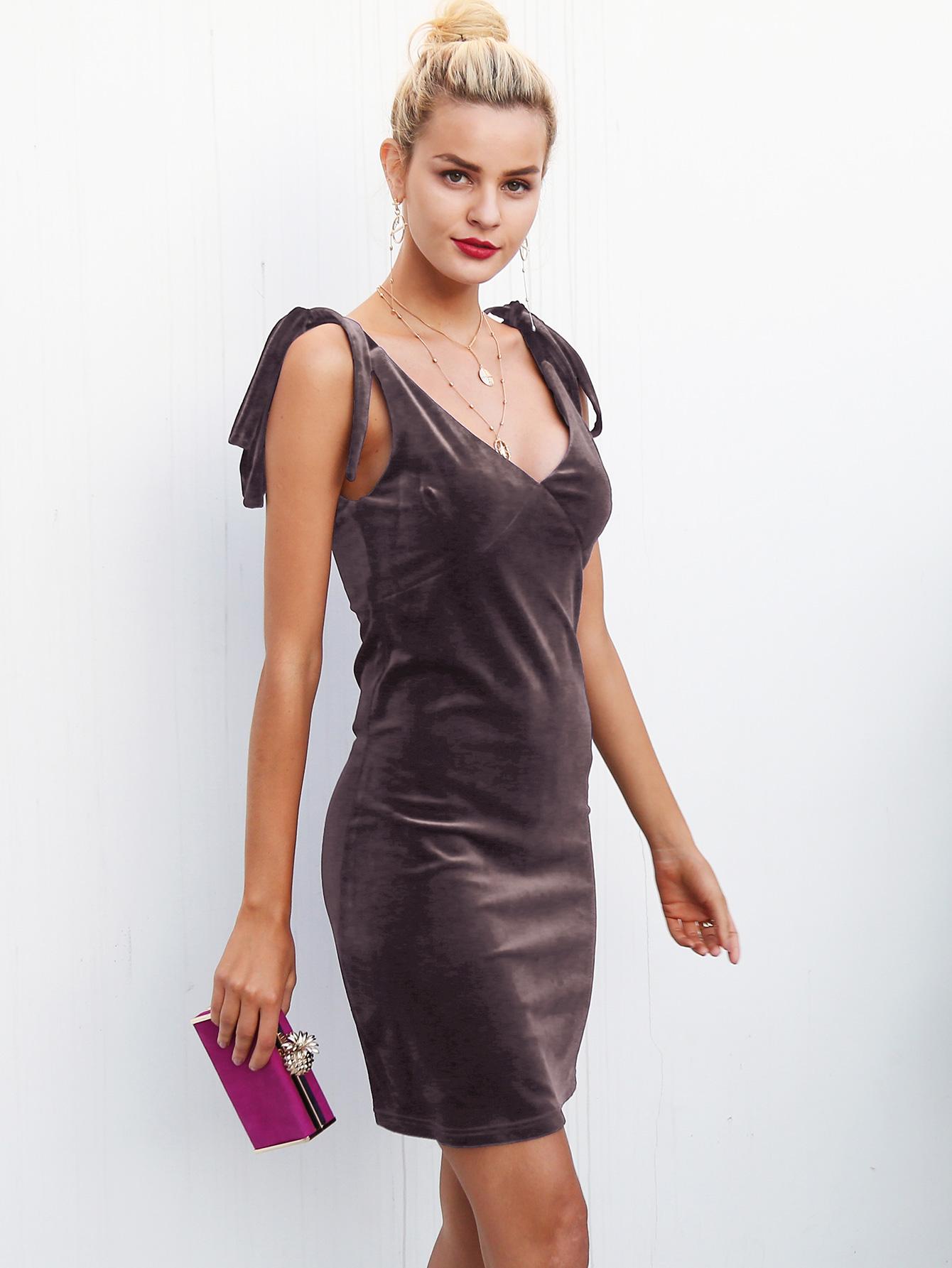 Vestido ajustado sin mangas con cuello en V de pana sexy ropa de mujer de moda al por mayor NHDE189523