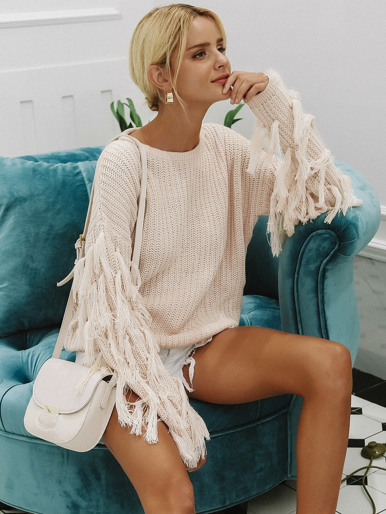 2019 new tassel sweater fashion women's wholesale NHDE190180