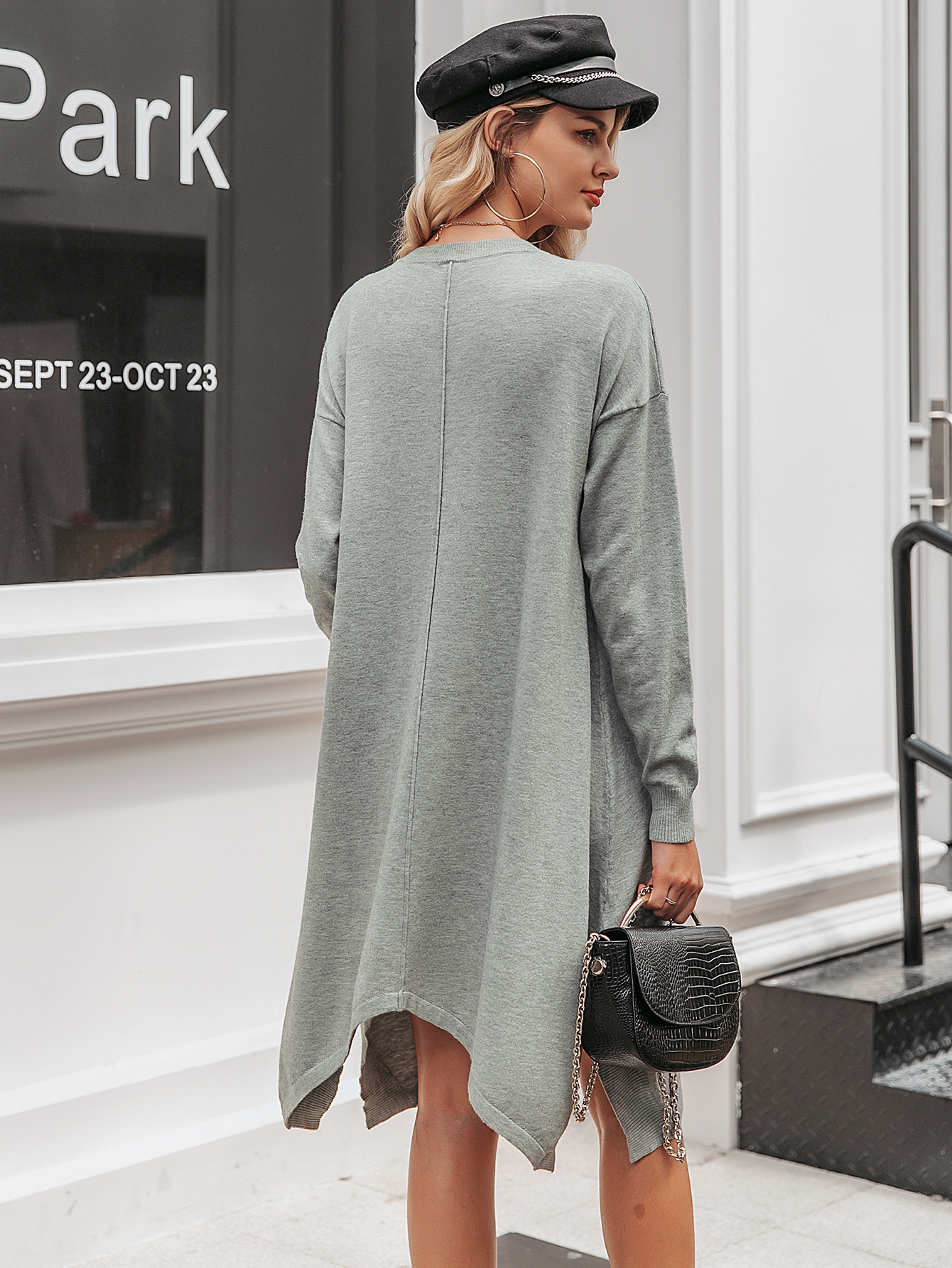 2019 new solid color sweater skirt fashion women's wholesale NHDE190182