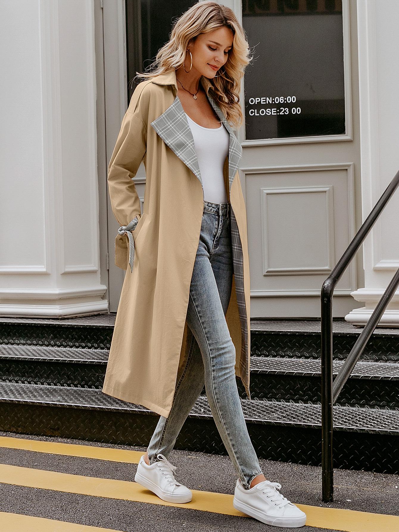 2019 new simple long coat fashion women's wholesale NHDE190189