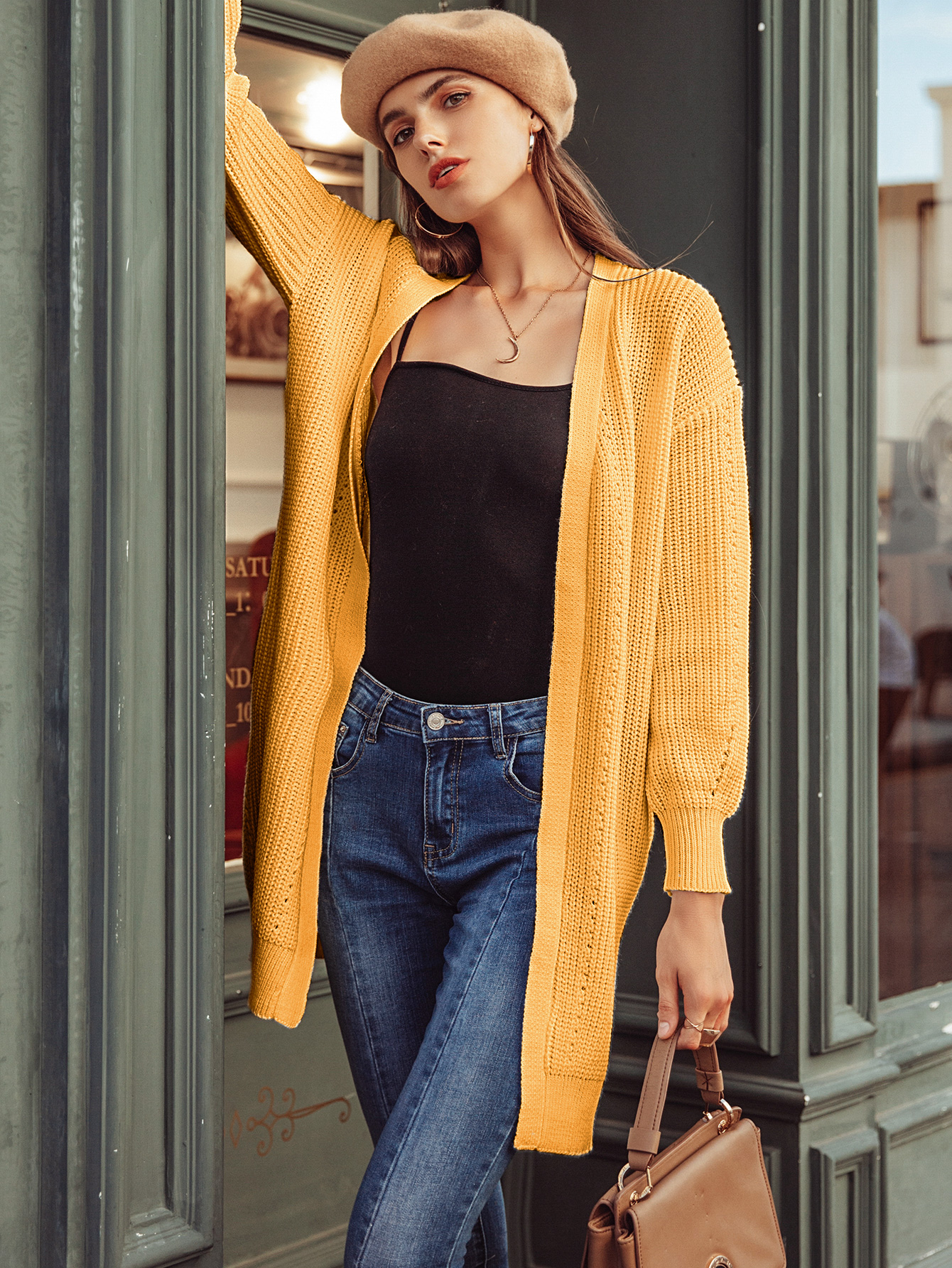2019 new long sweater fashion ladies wholesale NHDE190196