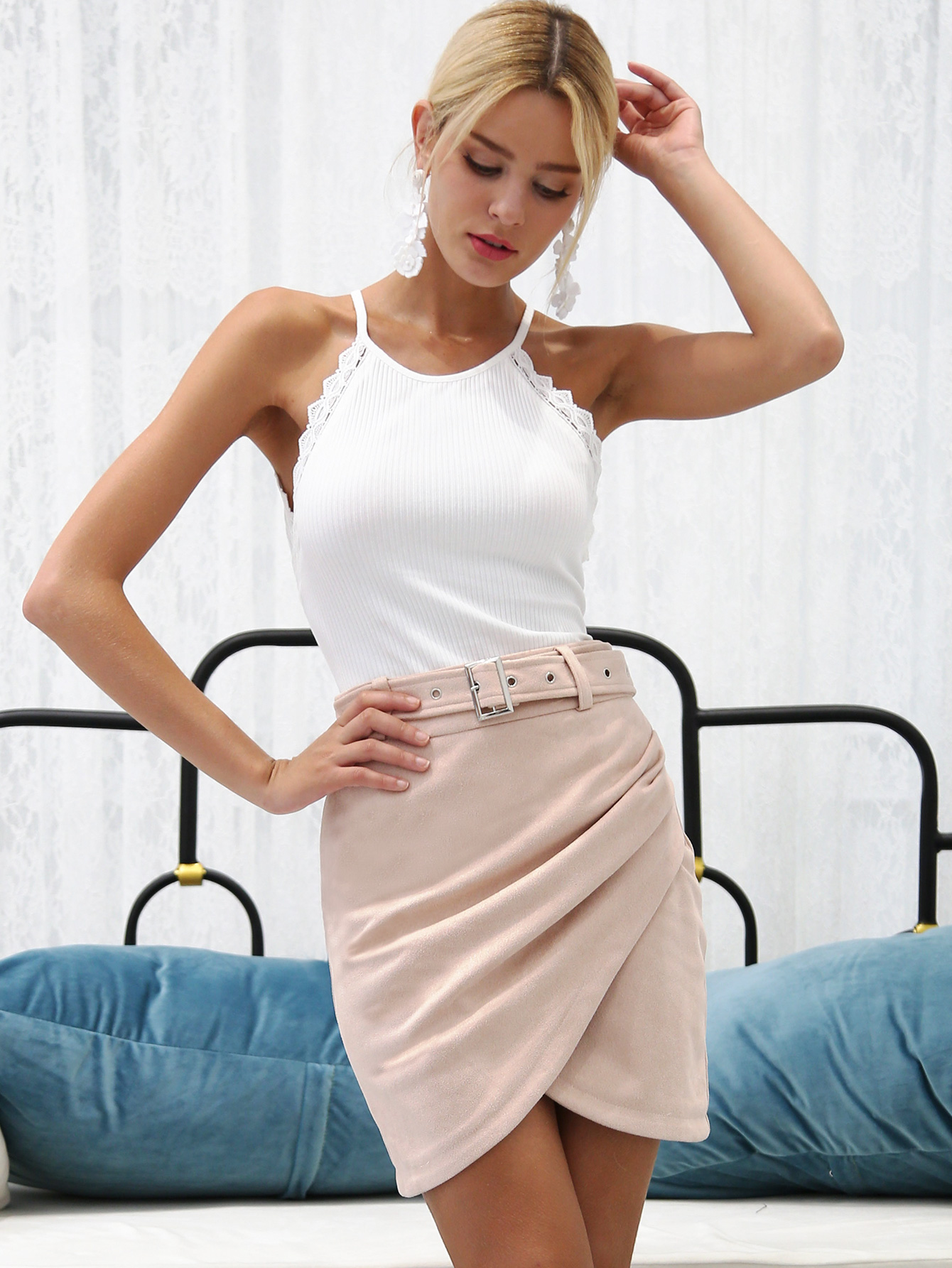 2019 New Front Cross Skirt Fashion Women Wholesale NHDE190210