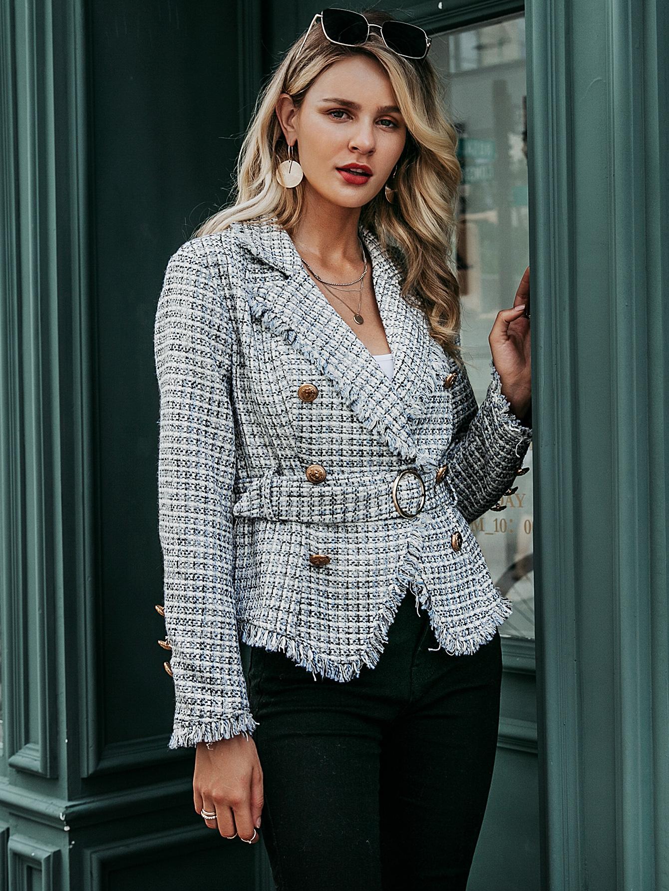 2019 new Vneck short coat women fashion wholesale NHDE190216