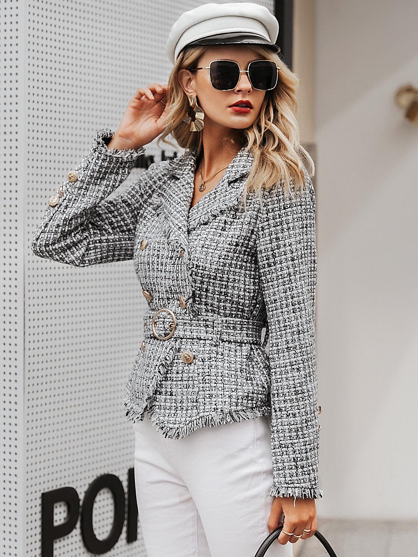 2019 new V-neck short coat women fashion wholesale NHDE190216
