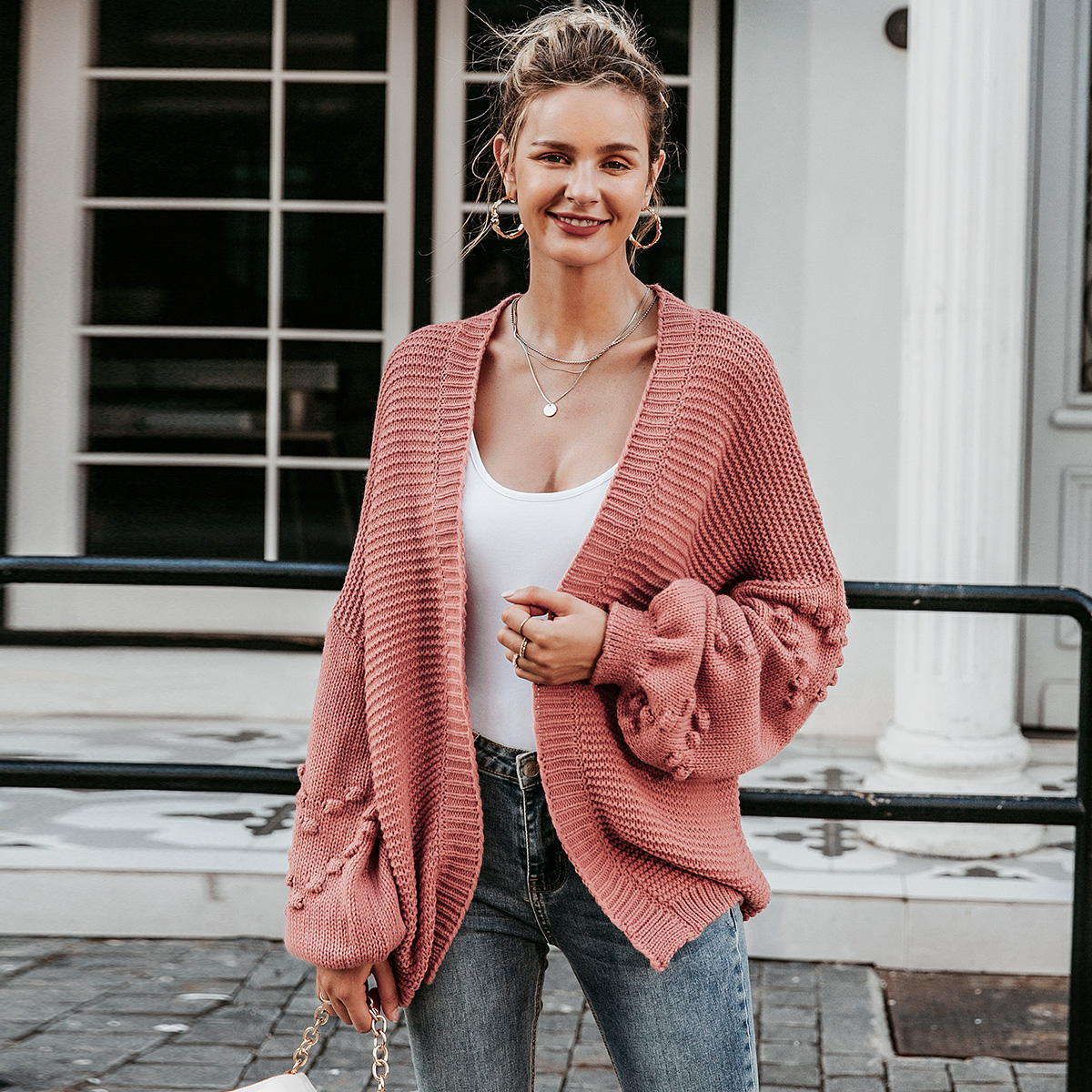 2019 new solid color sweater fashion women's wholesale NHDE190220