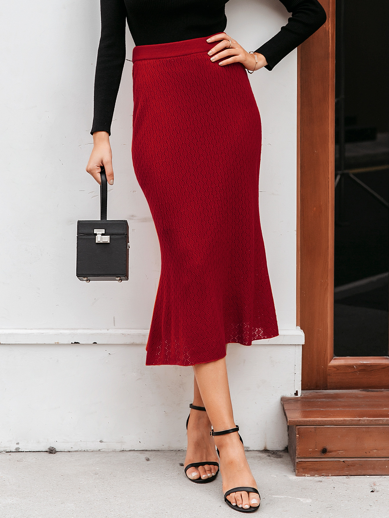 2019 new solid color sexy skirt hem skirt fashion women39s wholesale NHDE190222