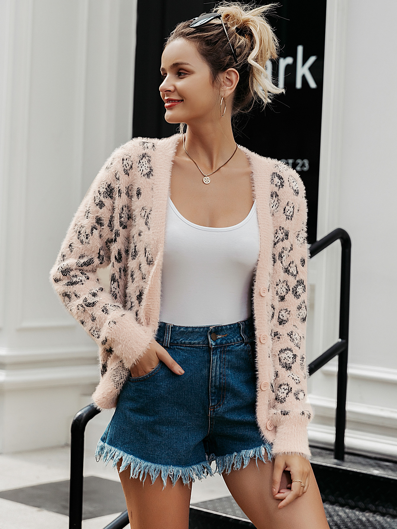 2019 New Leopard Sexy Sweater Fashion Women Wholesale NHDE190227