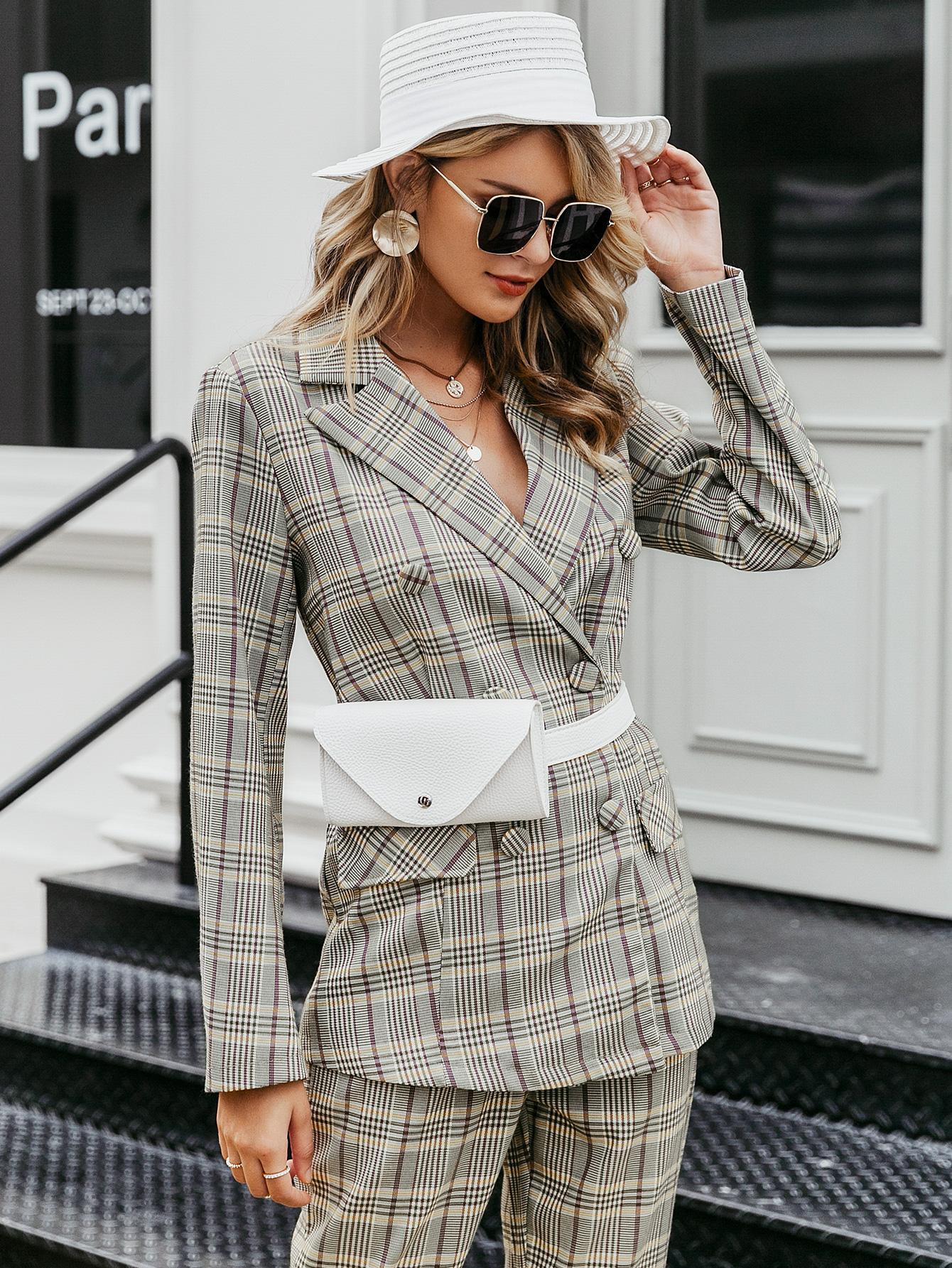 2019 New Plaid Temperament Coat Fashion Women Wholesale NHDE190240