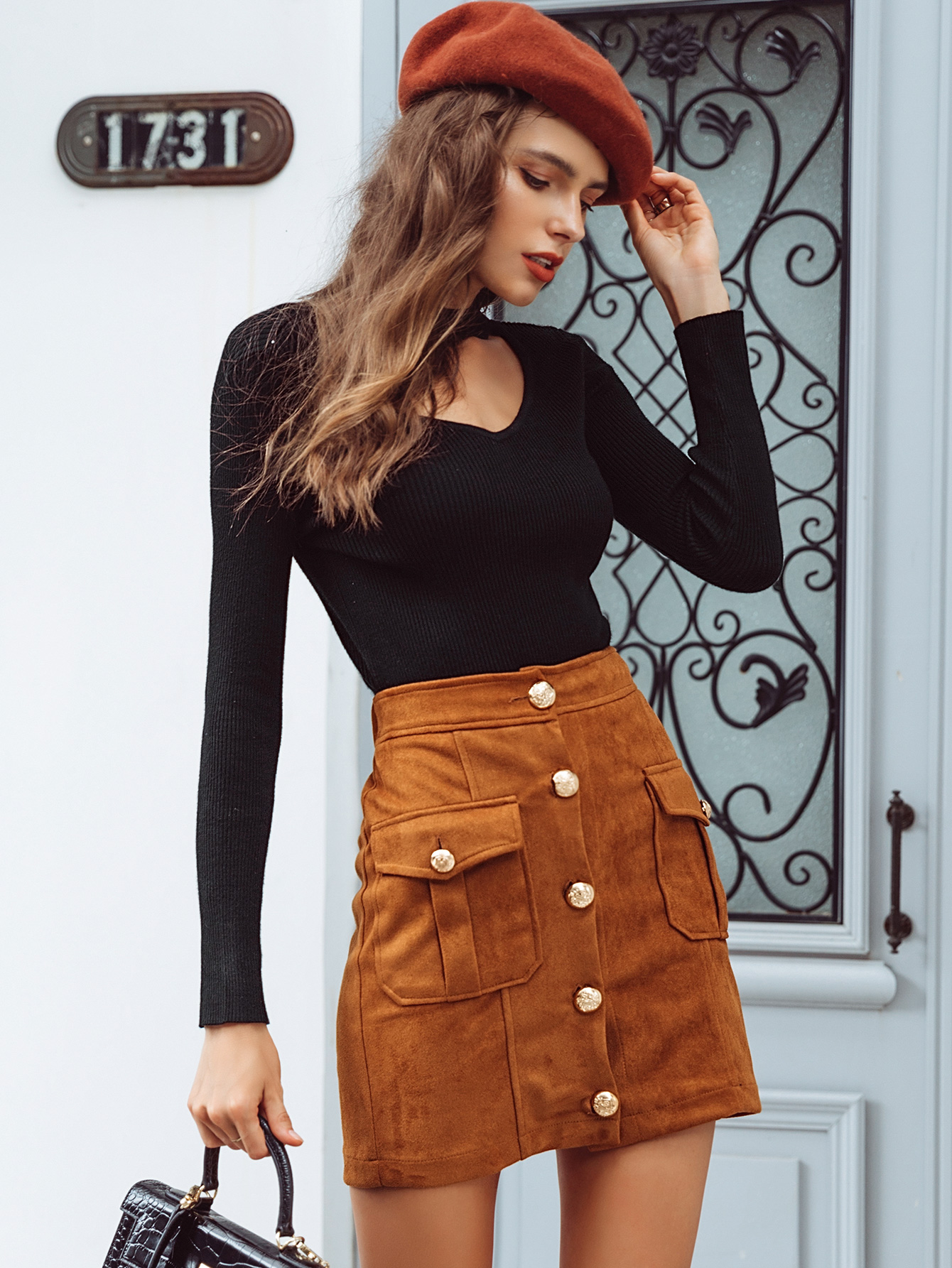 2019 new fashion women's skirt with pockets wholesale NHDE190255