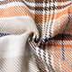 Off-white Orange Plaid Coat Wholesale women's clothes NHDE191426