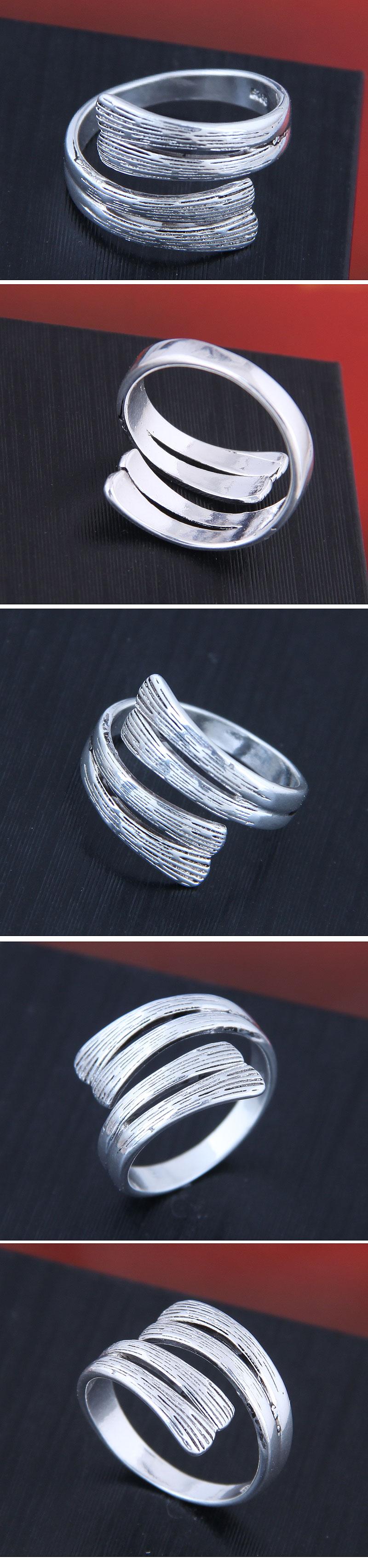 Delicate Korean fashion sweet OL retro simple open ring NHSC194606