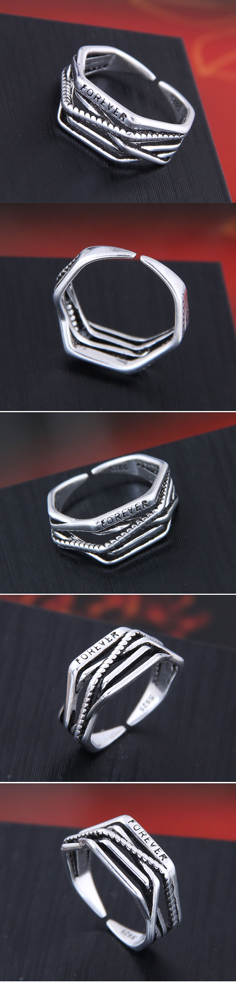 Exquisite Korean fashion sweet OL simple braided open ring NHSC194603