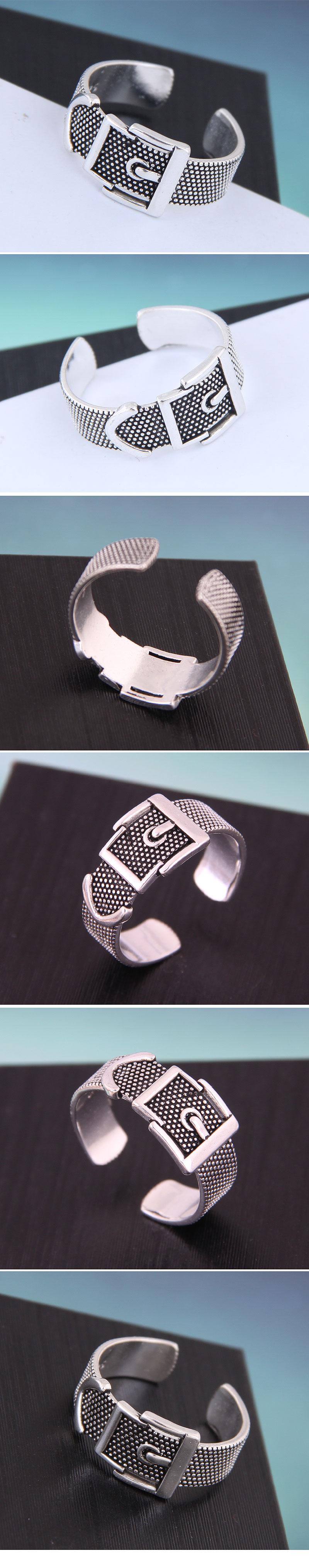 Delicate Korean Fashion Sweet OL Retro Belt Buckle Open Ring NHSC194600