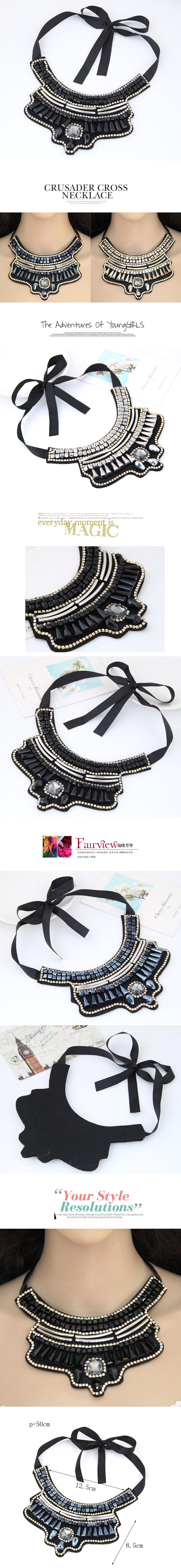 European and American fashion trend simple crystal wild gorgeous fashion collar necklace NHSC191961