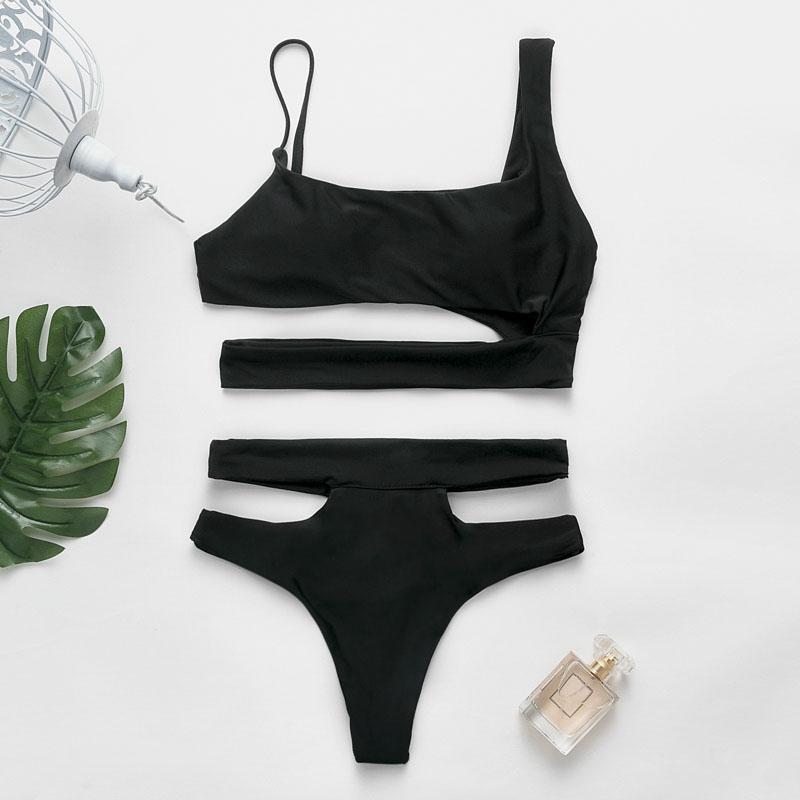 Fashion hollow black monokinis sexy bikini wholesale women's swimsuit NHDE193181