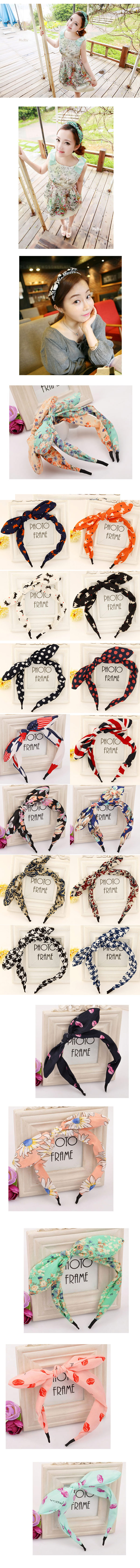Korean fashion lady with bow rabbit ears hair accessories headband NHSC193683