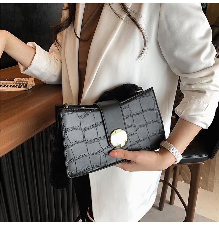 neue trendige Baguette Tasche Krokodil Muster Single Shoulder Messenger Achsel Tasche NHJZ267980