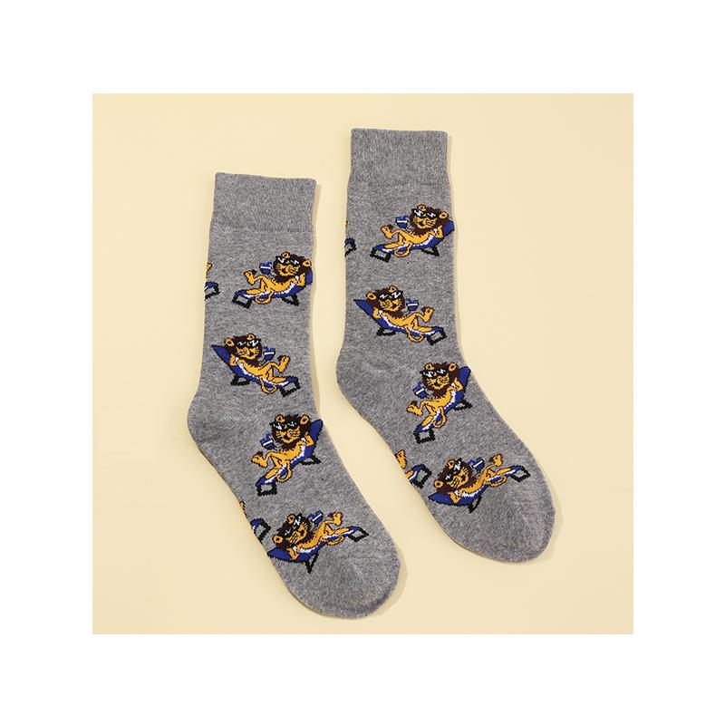 New  pug lion pattern socks cute cute pet series socks NHNU272486