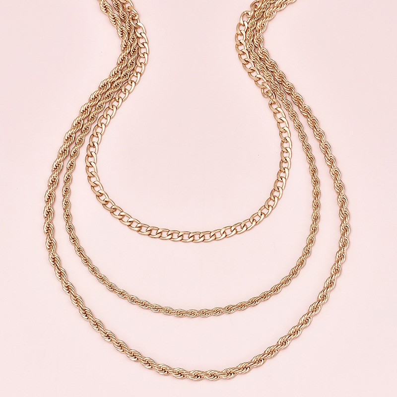 fashion  multi-layer women's twist necklace  NHAJ272553