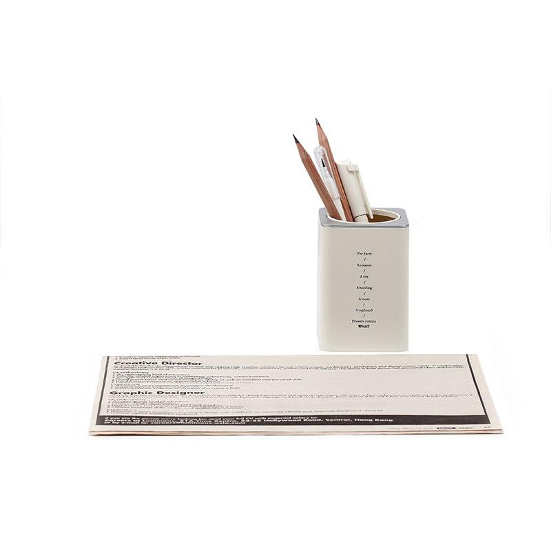 Simple and creative student stationery desktop storage box pen holder NHNU273815
