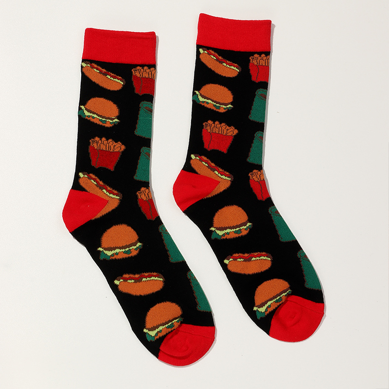 Fashion new trend red cola burger socks for women NHNU267329