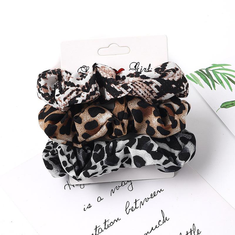 simple fabric chiffon large intestine hair scrunchies combination intestine ring suit NHQC278121