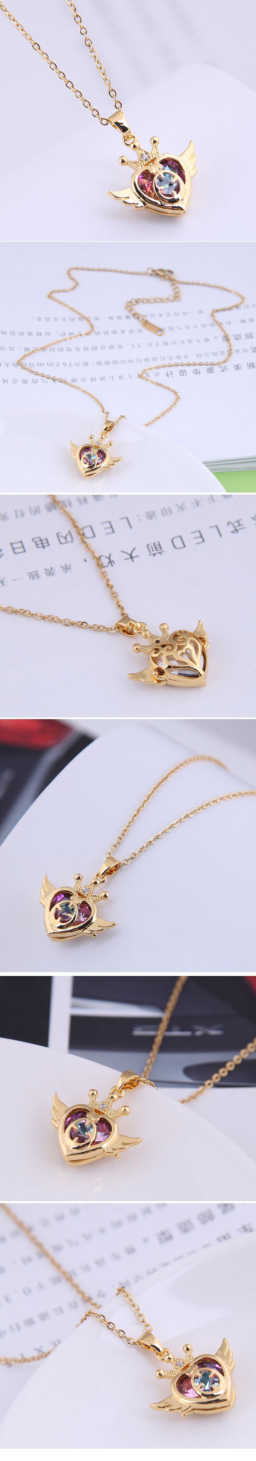 Korean Fashion Sweet Angel Love  Necklace NHSC281729