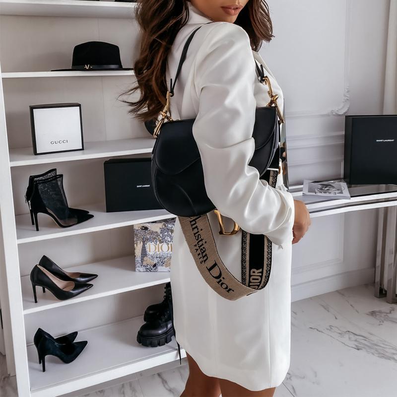 women's blazer dress fashion long-sleeved solid color dress jacket NHWA284670