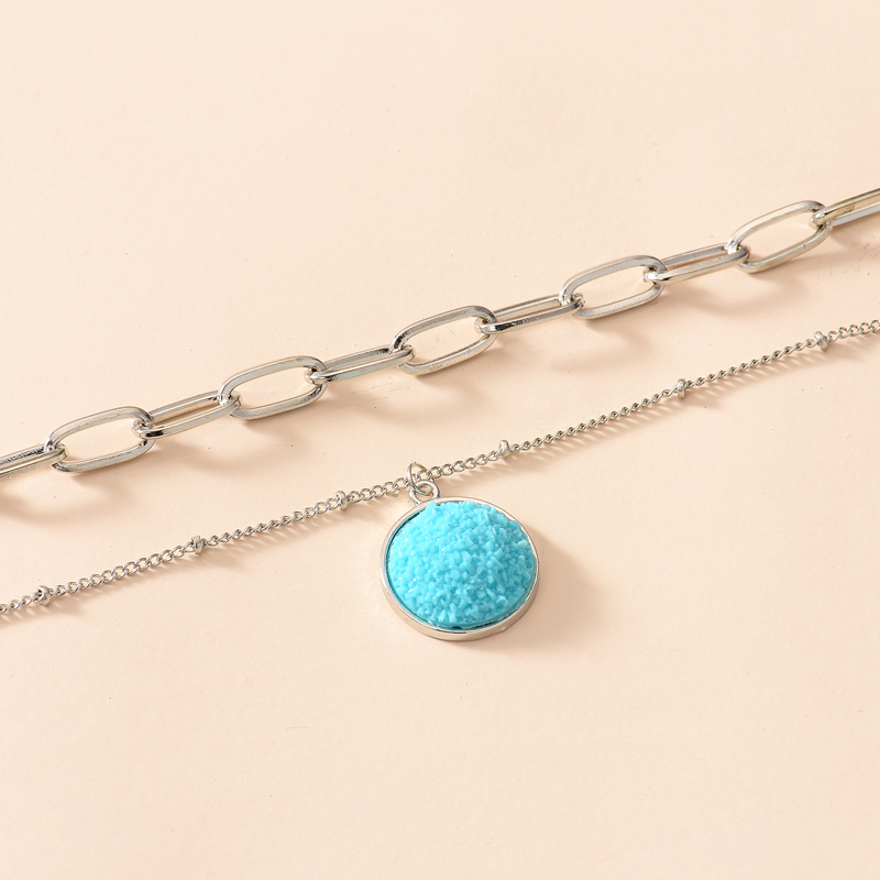 New thick chain 2 layer necklace NHOT285185