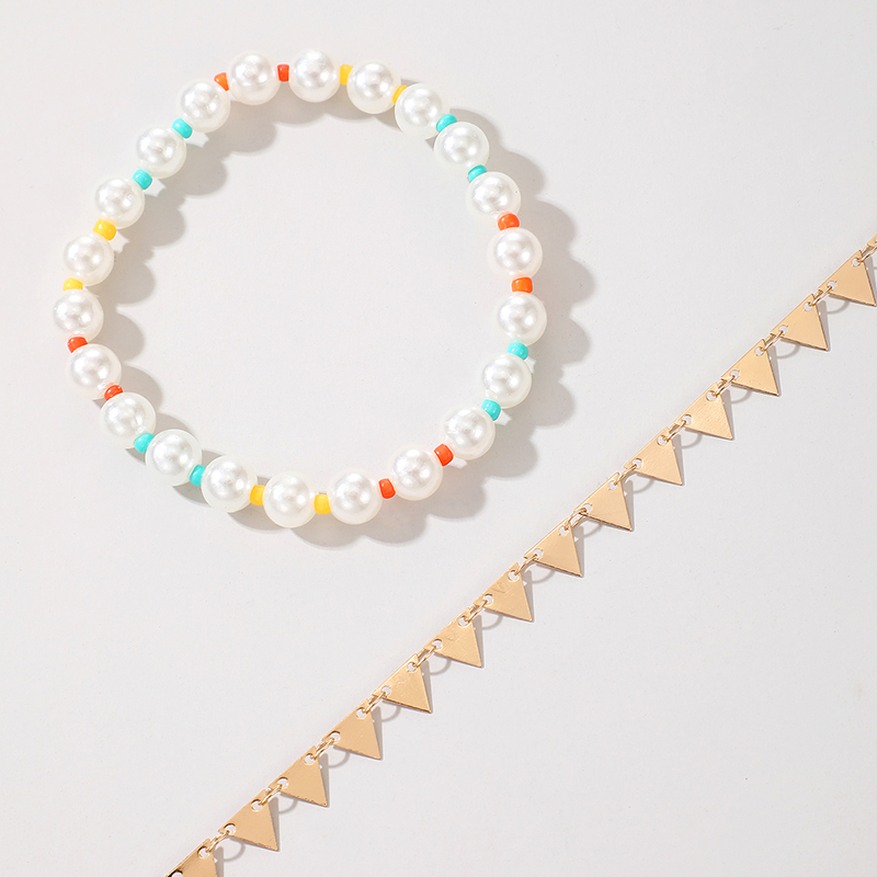double-layer pearl anklet NHGY289544