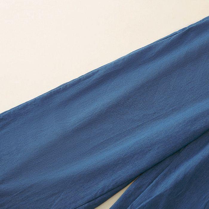 Solid color elastic waist wide-leg pants loose trousers NHUO299771