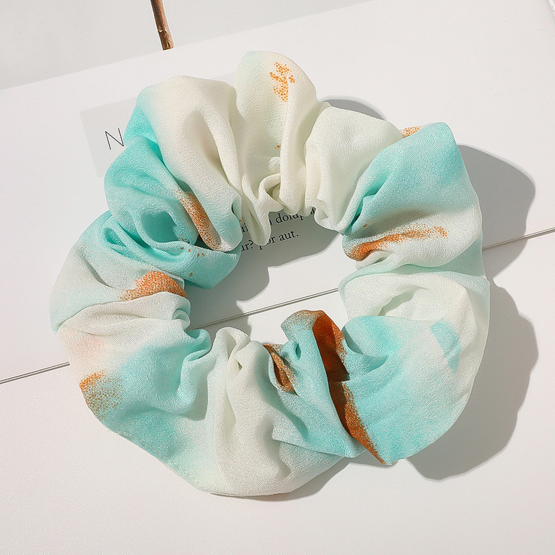 Chiffon starry hair band tiedye gradient color hair accessories wholesale NHQC301682