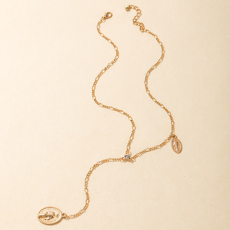 fashion simple wild long tassel necklace NHGY301773