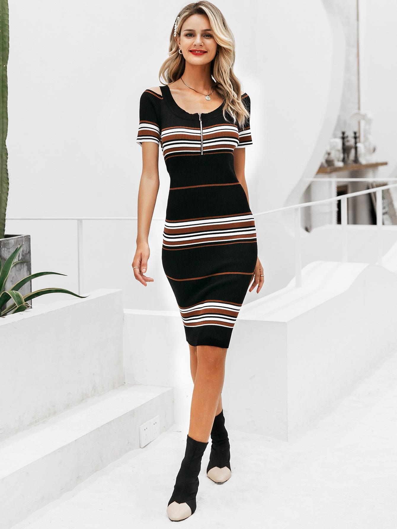 Short Sleeve Dress Hip Skirt Sexy Fashion Wholesale Women NHDE198592