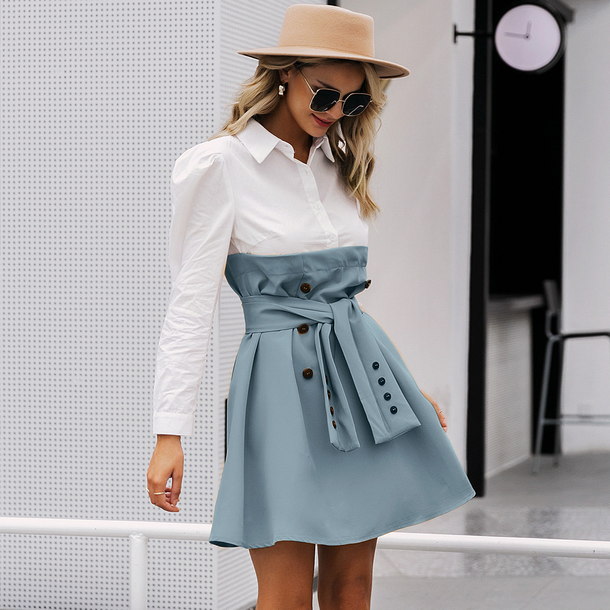Fashion women's dress wholesale simple style wild dress skirt NHDE198624