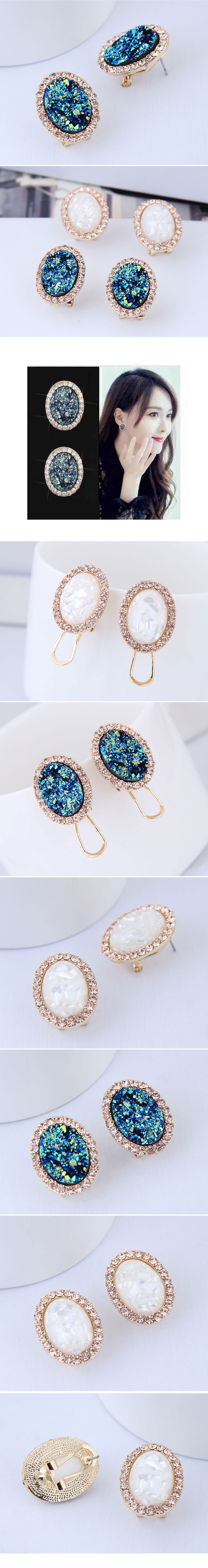 Korean fashion personality fashion diamond earrings NHSC199114