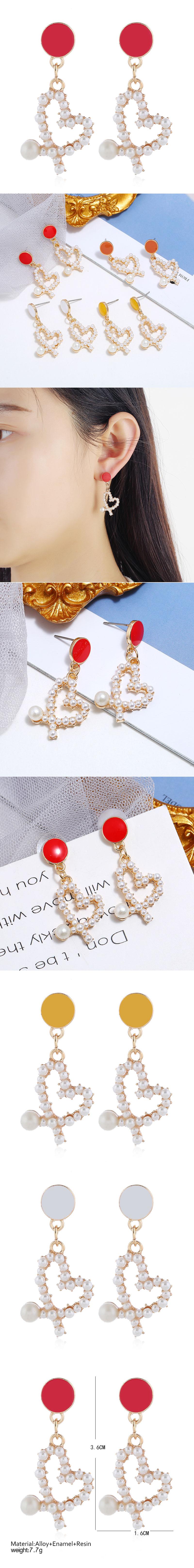 Korean Fashion Sweet Simple Love Pearl Earrings NHSC201820