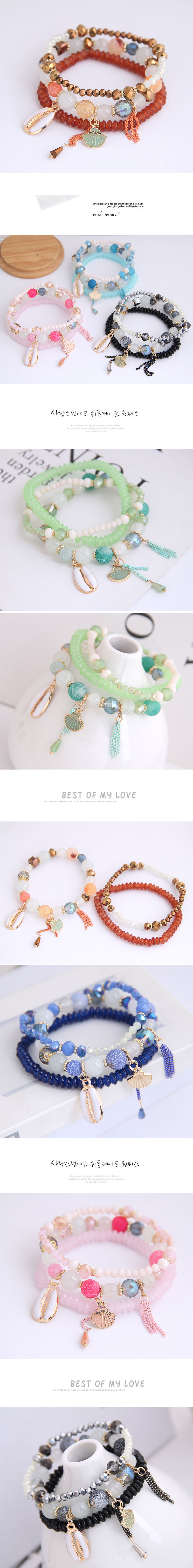 Simple accessories Haibei multi-layer fashion female bracelet NHSC201807