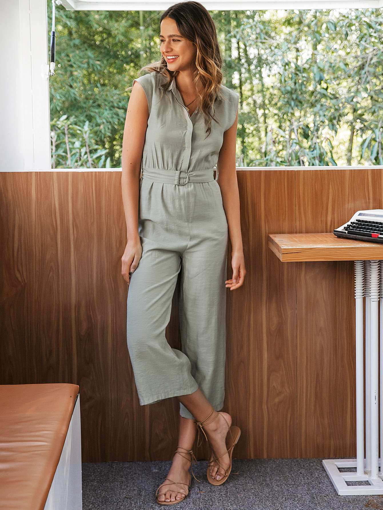 Sleeveless Casual Comfortable Jumpsuit Wholesale Fashion Women's Clothes NHDE201720