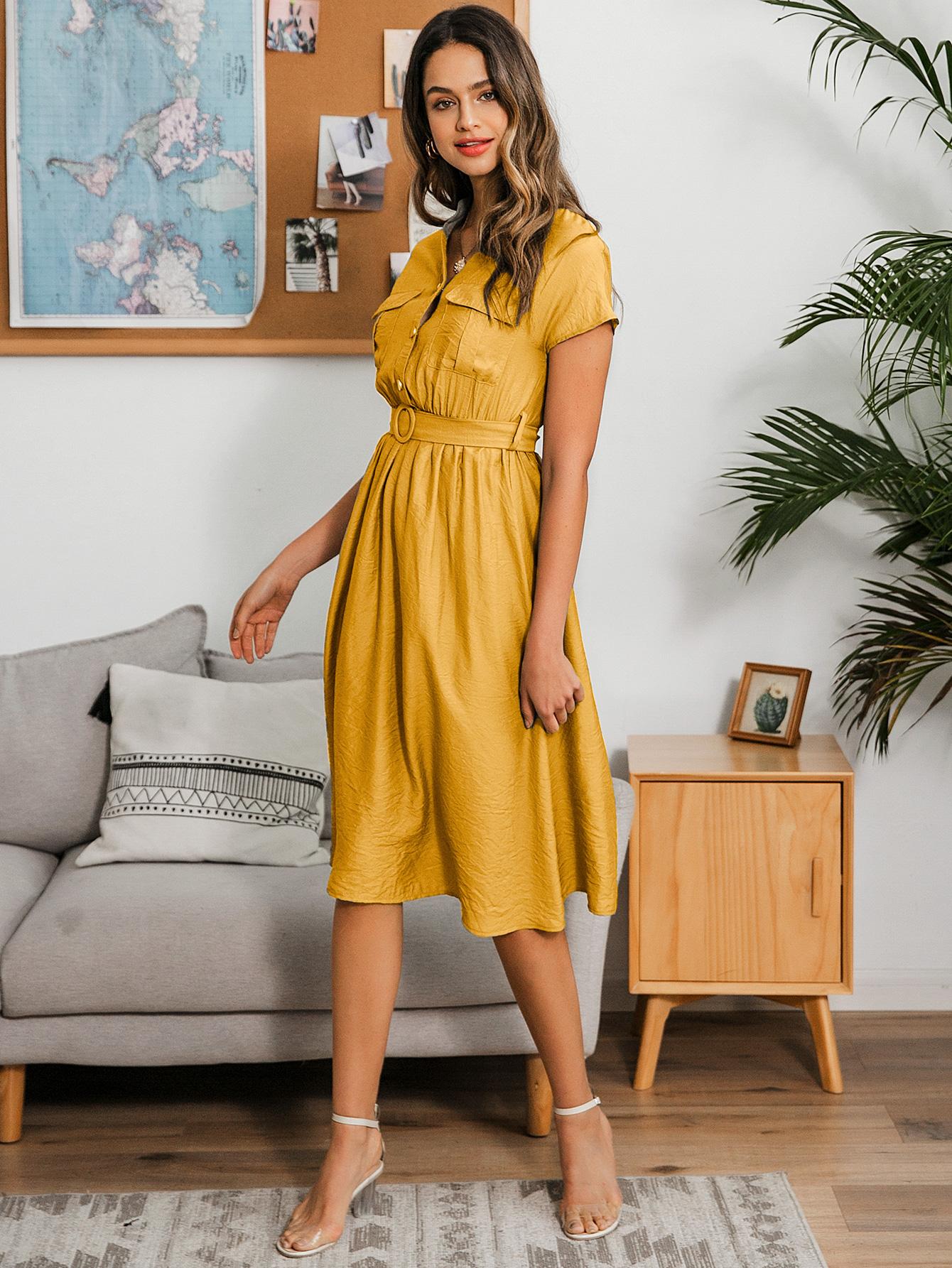 Sweet little V-neck short sleeve dress wholesale fashion women's clothes NHDE201724