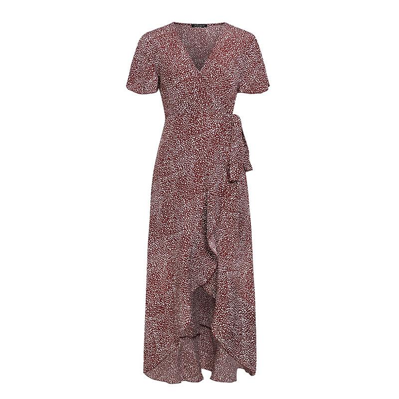 Sexy V-neck satin split dress wholesale fashion women's clothes NHDE201731