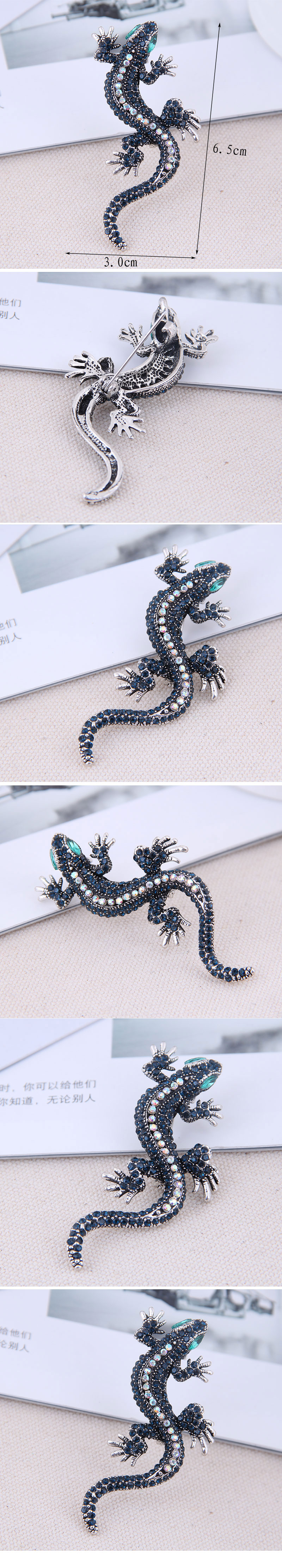 Fashion jewelry Korean metal flash diamond gecko ladies brooch NHSC202423