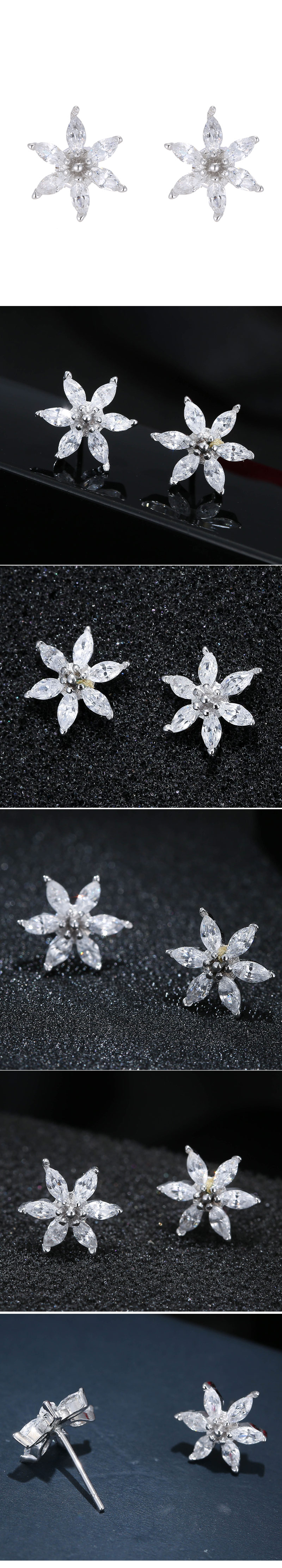 Korean Fashion Sweet OL Bright Petal Earrings Wholesale NHSC204345