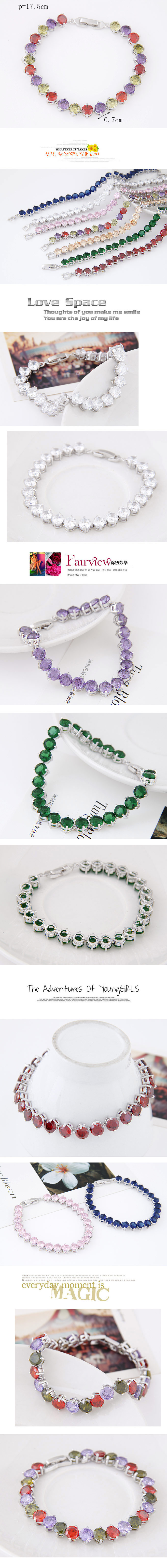 Fashion Copper Plated Real Gold Simple Zircon Bracelet Wholesale NHSC199646