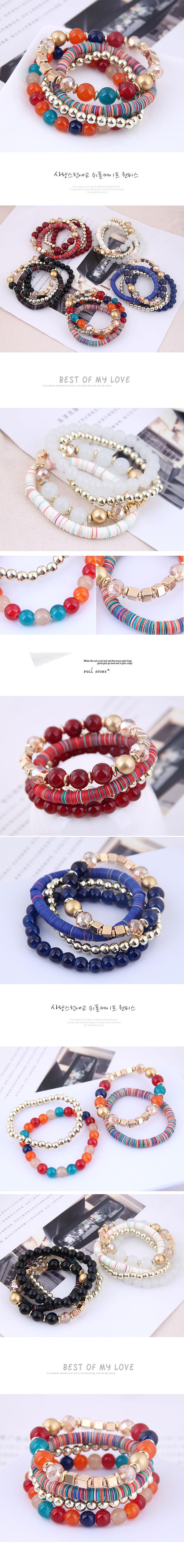 Fashion Bohemian Mashup Multi-Accessory Multilayer Bracelet NHSC199643