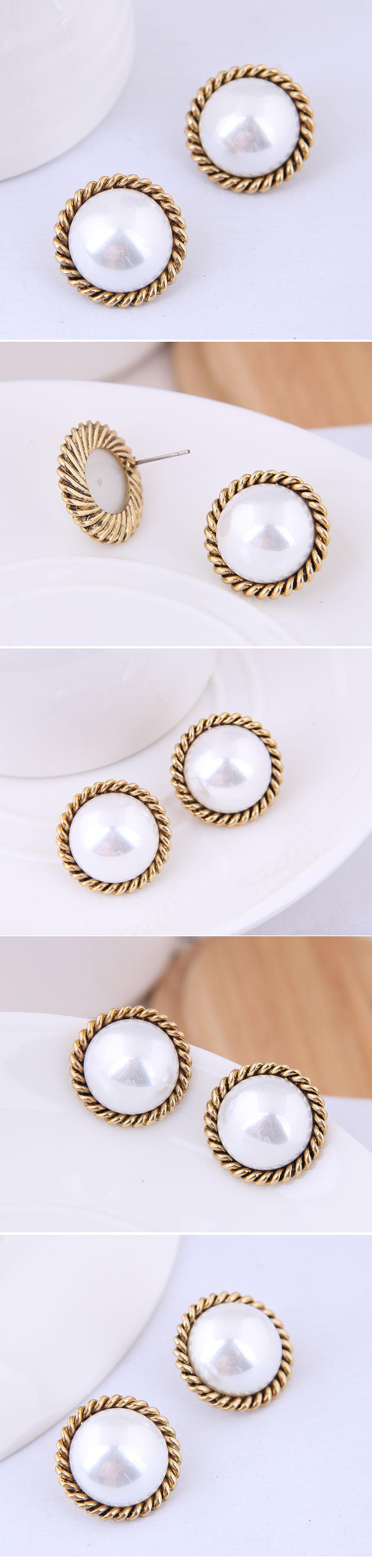 Korean Fashion Sweet OL Pearl Earrings for women wholesale NHSC204512