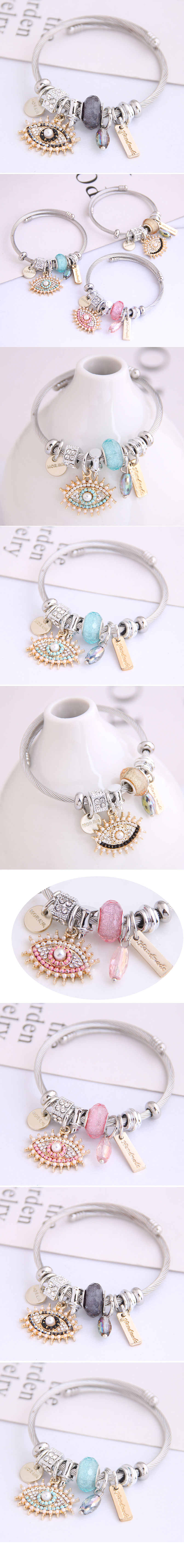 Stylish Metal Devils Eye Simple Water Drop Pendant MultiElement Accessories Bangle NHSC205082
