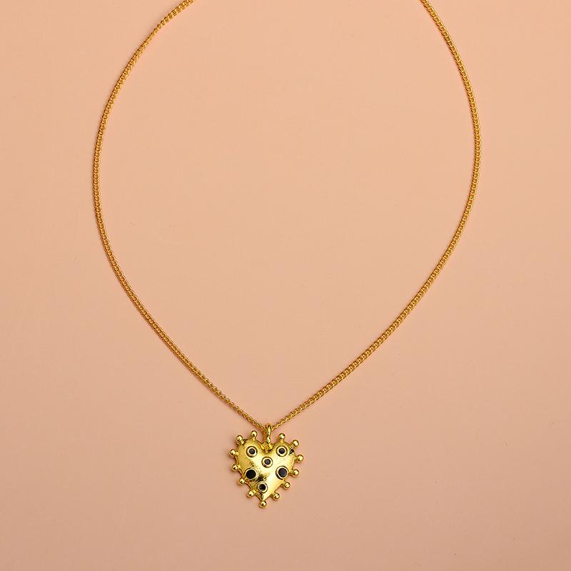 Yi wu jewelry new gold-plated love necklace punk style necklace women wholesale NHOT205731