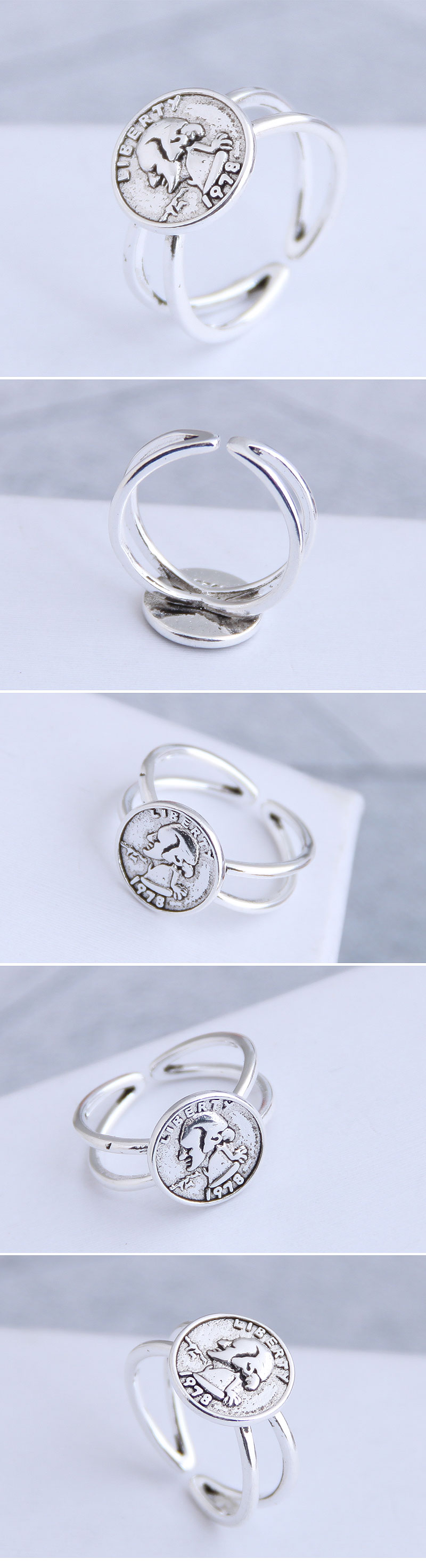 Fashion vintage personality open ring NHSC206218