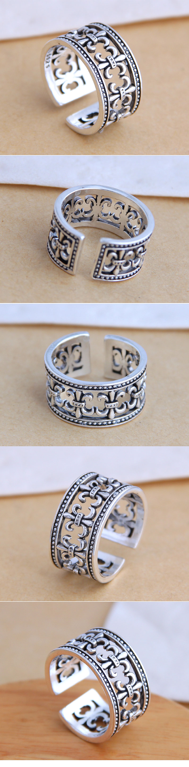 Fashion jewelry fashion retro simple exaggerated open ring NHSC200910